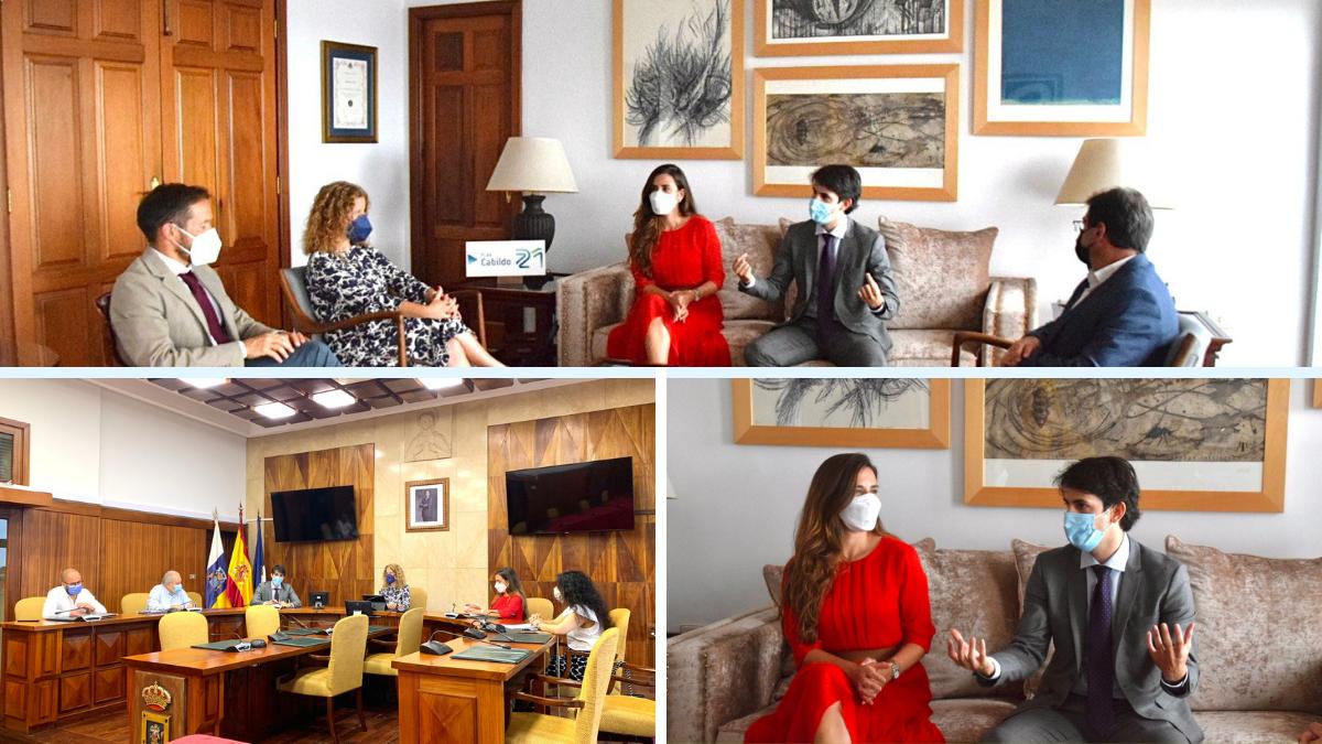 Reunión de la ZEC en le Cabildo de La Palma