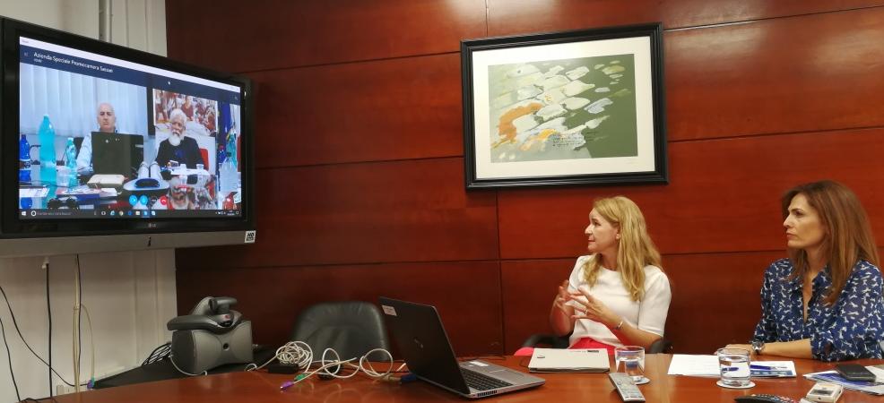 Videoconferencia con Sassari