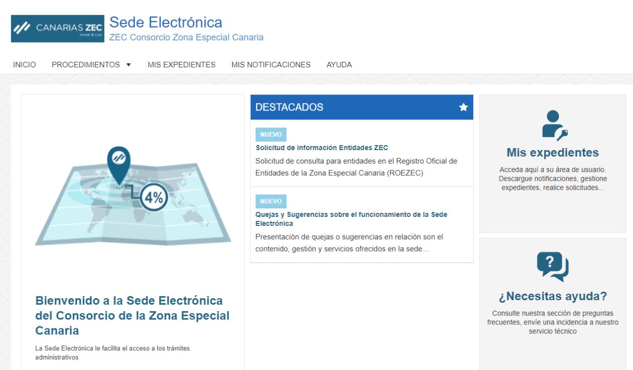 CanariasZEc pone en marcha la sede electronica